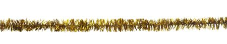 tinsel: close up of christmas decoration on white background