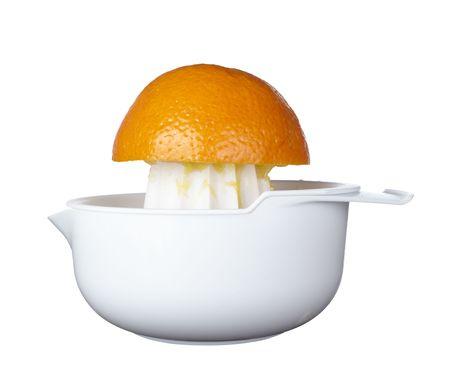 close up of fresh orange juice preparation, photo