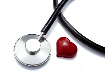 clean lungs: close up of stethoscope  on white background