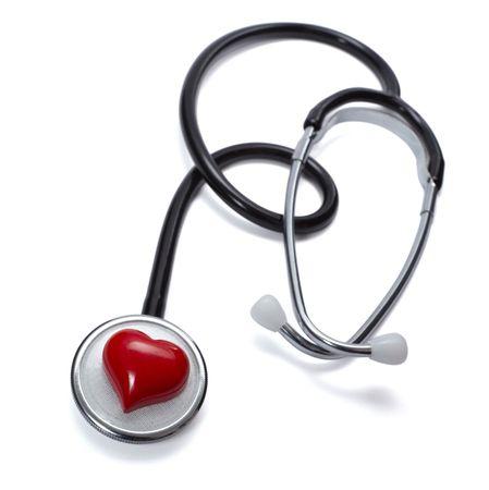close up of stethoscope on white background  Stock Photo - 6197816