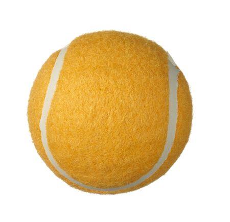tennis ball on white background photo