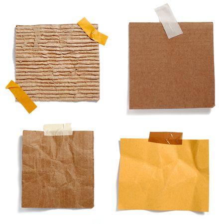 recordar: colecci�n de viejo papel de papel de nota sobre fondo blanco. cada uno es en resoluci�n completa de c�maras Foto de archivo