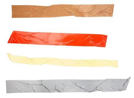 cintas: Close up de una cinta adhesiva sobre fondo blanco. cada uno de ellos es en la resoluci�n de la c�mara completa