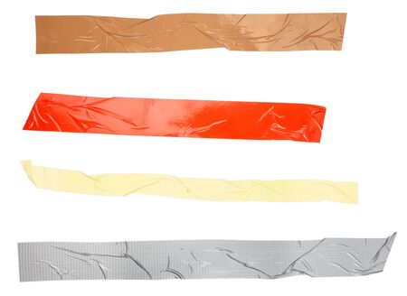 close up of an adhesive tape on white background. each one is in full camera resolution photo