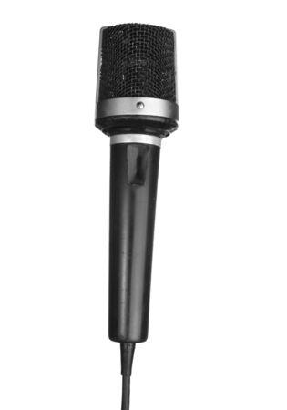 retro vintage microphone isolated on white background Stock Photo - 6258998