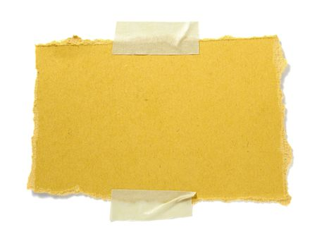 old brown grunge paper on white background  Stock Photo - 6258965