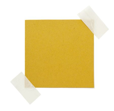 adhesive tape: old brown grunge paper on white background  Stock Photo