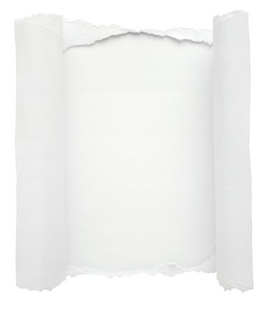 hole in white paper background photo