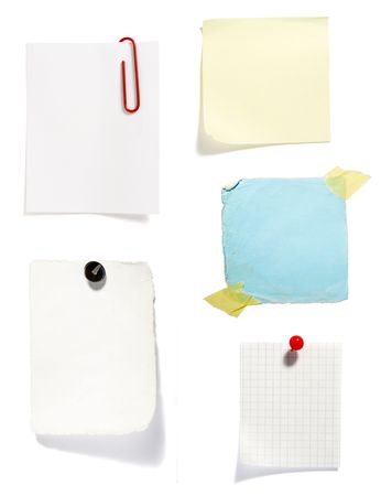 collection of old note paper  on white background. each one is in full cameras resolution Stock Photo - 6336818