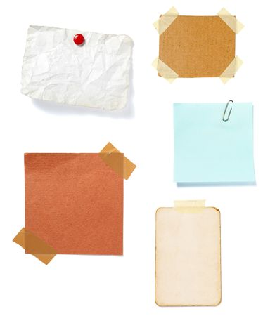 collection of old note paper  on white background. each one is in full cameras resolution Stock Photo - 6336894