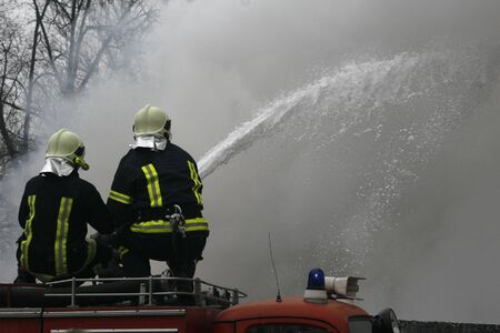 firefighters in action photo