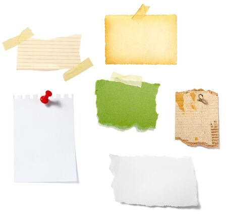 collection of old note paper  on white background. each one is in full cameras resolution Stock Photo - 6353262