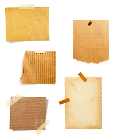 collection of old note paper  on white background. each one is in full cameras resolution Stock Photo - 6353237