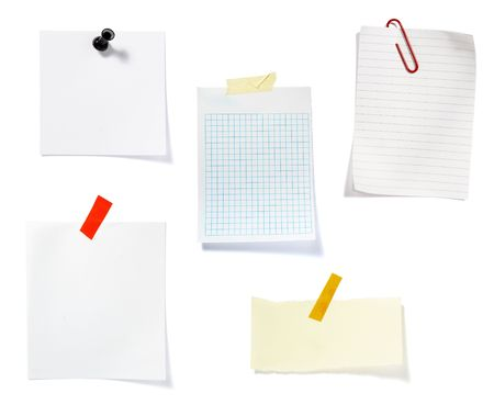 collection of old note paper  on white background. each one is in full cameras resolution Stock Photo - 6353233