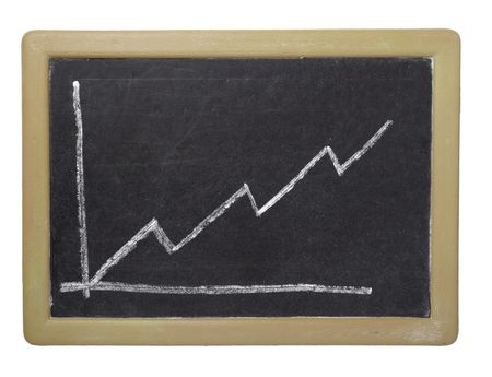 close up of stock market chart on a chalkboard Stock Photo - 6386519