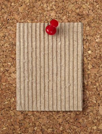 closeup of note paper  on cork board Stock Photo - 6386362