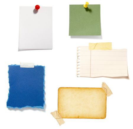 collection of old note paper  on white background. each one is in full cameras resolution Stock Photo - 6386501