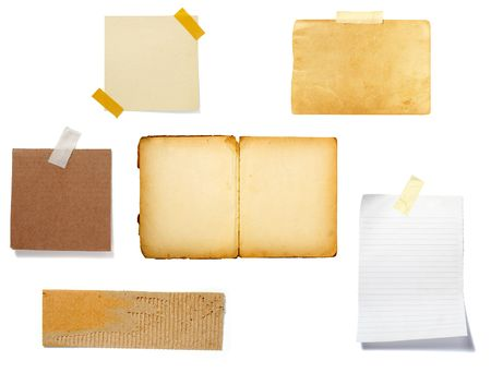 collection of old note paper  on white background. each one is in full cameras resolution Stock Photo - 6386497