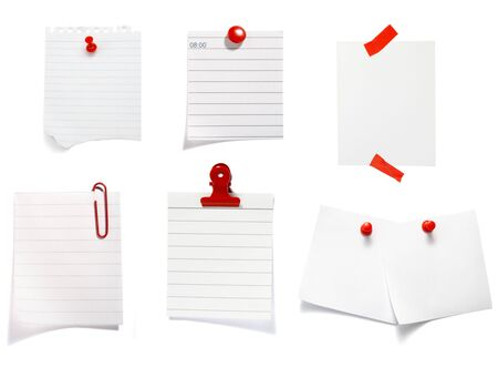 collection of old note paper  on white background. each one is in full cameras resolution Stock Photo - 6386500