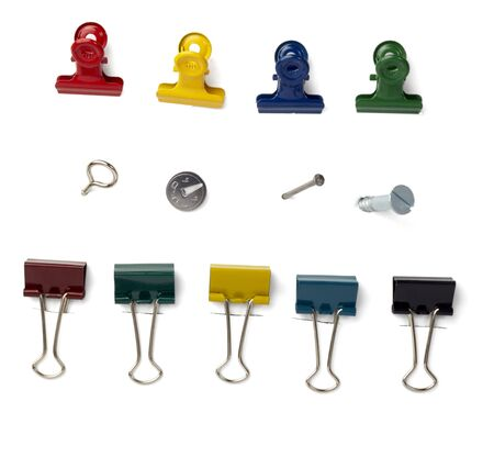 close up of various pushpins photo