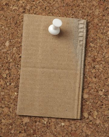 closeup of note paper  on cork board Stock Photo - 6423609
