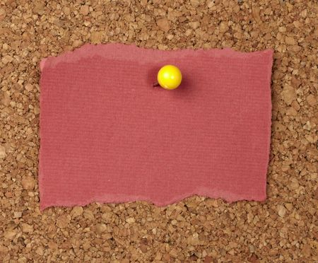 closeup of note paper  on cork board Stock Photo - 6423704