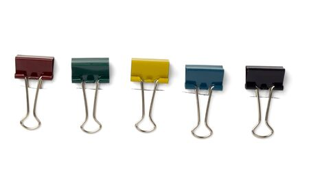 close up of various pushpins  on white background Stock Photo - 6423593