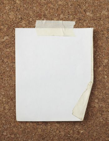 closeup of note paper  on cork board Stock Photo - 6486174