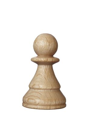 pawn: close up of chess pawn piece on white background