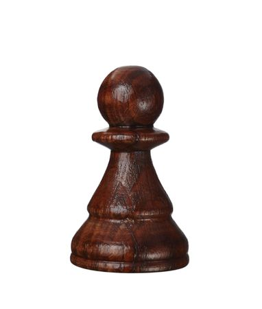 chess pawn: close up of chess pawn piece on white background
