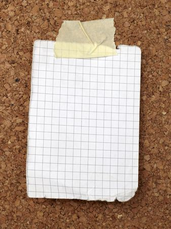 closeup of note paper  on cork board Stock Photo - 6560965