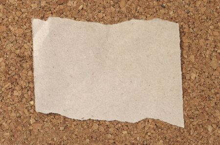 closeup of note paper  on cork board photo