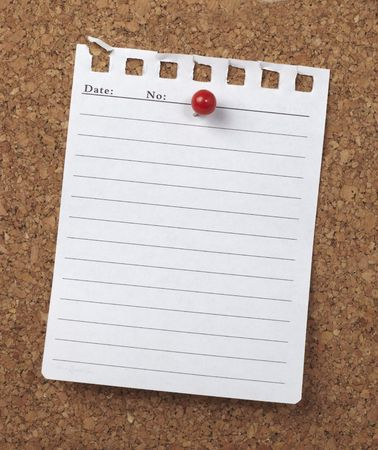 closeup of note paper  on cork board Stock Photo - 6560952