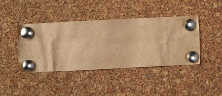 closeup of note paper  on cork board Stock Photo - 6560962