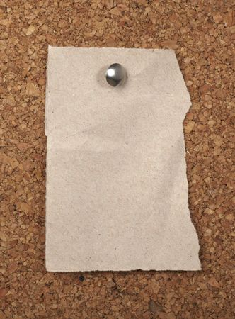 closeup of note paper  on cork board Stock Photo - 6590960