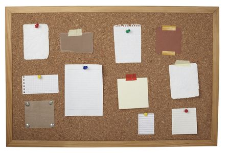 collection of vaus note papers  on cork board Stock Photo - 6590959