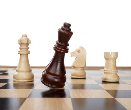 close up of chess pieces  photo