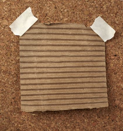 closeup of note paper  on cork board Stock Photo - 6602574