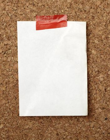 closeup of note paper  on cork board Stock Photo - 6602580