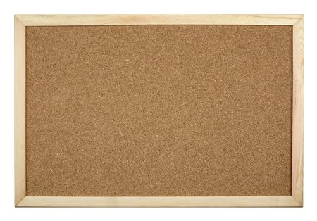 postit: close up of cork board on white background