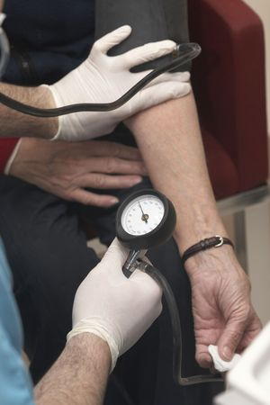 close up of blood pressure  monitoring in lab photo