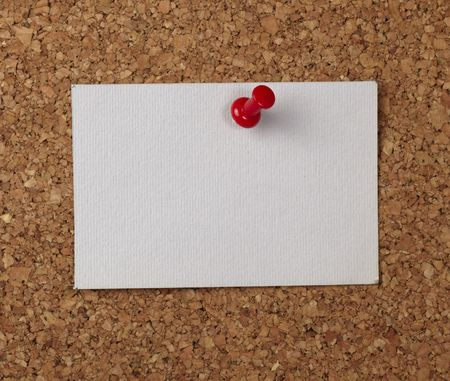 closeup of note paper  on cork board Stock Photo - 6662507