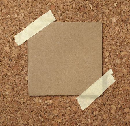 closeup of note paper  on cork board Stock Photo - 6694129