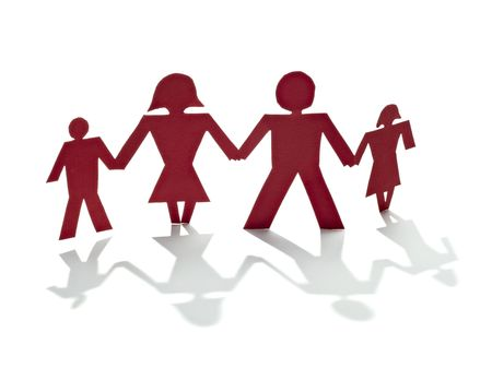 close up of people cut out of paper on white background Stock Photo - 6805509