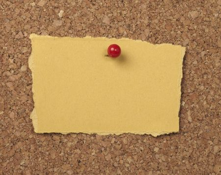 closeup of note paper  on cork board Stock Photo - 6805719