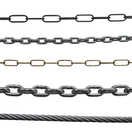 collection of vaus  chains on white background. each one is in full cameras resolution  Stock Photo - 6982771