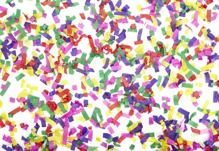 close up of confetti on white background Stock Photo - 7069068