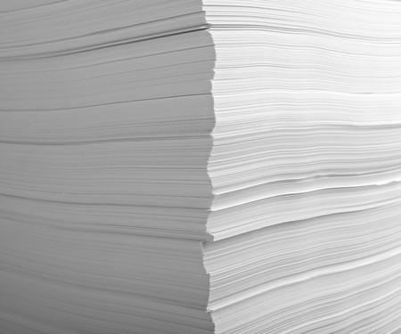 close up of stack of papers  Stock Photo - 7069944