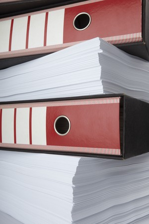 close up of stack of papers and files  Stock Photo - 7069947