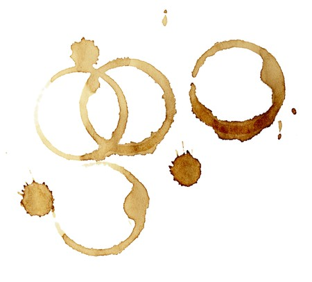 close up of coffee cup marks on white background Stock Photo - 7143963